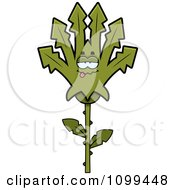 Clipart Sick Marijuana Pot Leaf Mascot Royalty Free Vector Illustration by Cory Thoman
