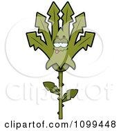 Poster, Art Print Of Sick Marijuana Pot Leaf Mascot