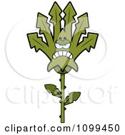 Clipart Mad Marijuana Pot Leaf Mascot Royalty Free Vector Illustration