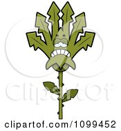 Clipart Depressed Marijuana Pot Leaf Mascot Royalty Free Vector Illustration by Cory Thoman