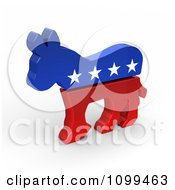 3d Democratic Political American Donkey