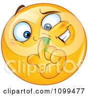 Clipart Emoticon Picking His Nose Royalty Free Vector Illustration