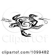 Clipart Black And White Swimming Tribal Sea Turtle Royalty Free Vector Illustration by Vector Tradition SM