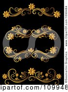 Clipart Golden Flourish Rule And Border Design Elements 16 Royalty Free Vector Illustration