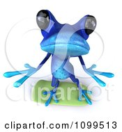 Clipart 3d Blue Springer Frog Skateboarding And Looking Up Royalty Free CGI Illustration