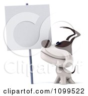 Clipart 3d Happy Jack Russell Terrier Dog Looking Up At A Sign Royalty Free CGI Illustration