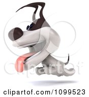 Clipart 3d Happy Jack Russell Terrier Dog Running Royalty Free CGI Illustration