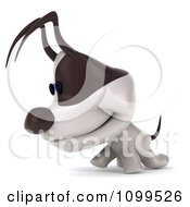 Clipart 3d Jack Russell Terrier Dog Walking To The Left Royalty Free CGI Illustration