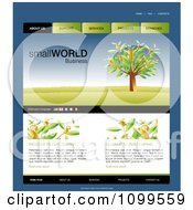 Clipart Website Home Page Interface Template With A Money Tree And Navigation Bars Royalty Free Vector Illustration by creativeapril