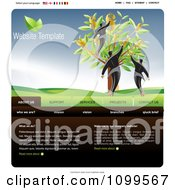 Clipart Website Home Page Interface Template With Men At A Money Tree And Navigation Bars Royalty Free Vector Illustration by creativeapril