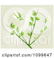 Clipart Two Leaf Butterflies And A Tree Branch Royalty Free Vector Illustration by creativeapril