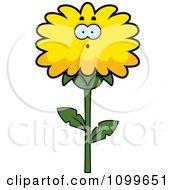 Surprised Dandelion Flower Character