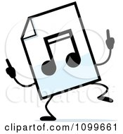 Clipart MP3 Music Document Mascot Doing A Happy Dance Royalty Free Vector Illustration by Cory Thoman