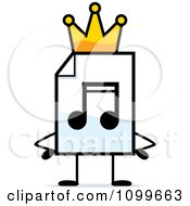 Clipart MP3 Music Document Mascot King Royalty Free Vector Illustration by Cory Thoman