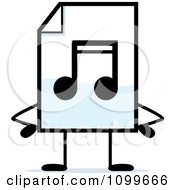 Clipart MP3 Music Document Mascot With Hands On Hips Royalty Free Vector Illustration
