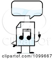 Clipart MP3 Music Document Mascot Talking Royalty Free Vector Illustration by Cory Thoman