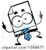Clipart Business Document Mascot Doing A Happy Dance Royalty Free Vector Illustration