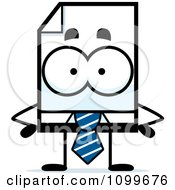 Clipart Business Document Mascot With Hands On Hips Royalty Free Vector Illustration