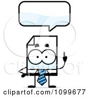 Clipart Business Document Mascot Talking Royalty Free Vector Illustration