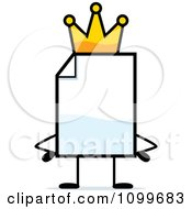 Clipart Blank Document Mascot King Royalty Free Vector Illustration