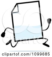 Clipart Blank Document Mascot Running Royalty Free Vector Illustration
