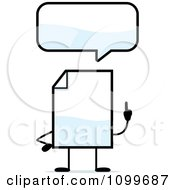 Clipart Blank Document Mascot Talking Royalty Free Vector Illustration