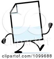 Clipart Blank Document Mascot Walking Royalty Free Vector Illustration