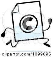 Copyright Document Mascot Running