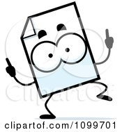 Clipart Document Mascot Doing A Happy Dance Royalty Free Vector Illustration