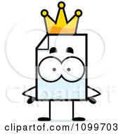 Clipart Document Mascot King Royalty Free Vector Illustration