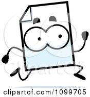 Clipart Document Mascot Running Royalty Free Vector Illustration