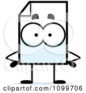 Clipart Document Mascot With Hands On Hips Royalty Free Vector Illustration