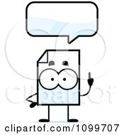 Clipart Document Mascot Talking Royalty Free Vector Illustration by Cory Thoman