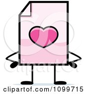 Clipart Love Document Mascot With Hands On Hips Royalty Free Vector Illustration