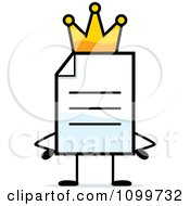 Clipart Note Document Mascot King Royalty Free Vector Illustration by Cory Thoman