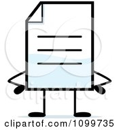 Clipart Note Document Mascot With Hands On Hips Royalty Free Vector Illustration