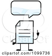 Clipart Note Document Mascot Talking Royalty Free Vector Illustration