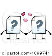 Clipart Help Document Mascots Holding Hands Royalty Free Vector Illustration by Cory Thoman