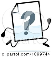 Clipart Help Document Mascot Running Royalty Free Vector Illustration
