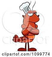 Grumpy Chef Lobster Or Crawdad Mascot Character