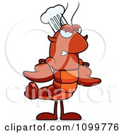 Mad Chef Lobster Or Crawdad Mascot Character