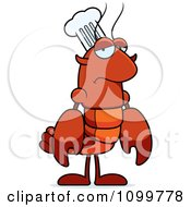 Depressed Chef Lobster Or Crawdad Mascot Character