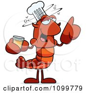 Drunk Chef Lobster Or Crawdad Mascot Character