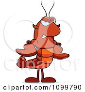 Mad Lobster Or Crawdad Mascot Character