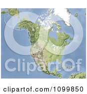 Clipart Shaded Relief Map Of North America Royalty Free Illustration by Michael Schmeling