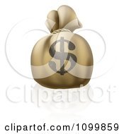 Clipart 3d Bank Money Sack With A Dollar Symbol On The Exterior Royalty Free Vector Illustration by AtStockIllustration
