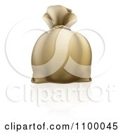 Clipart 3d Bank Money Sack Royalty Free Vector Illustration by AtStockIllustration
