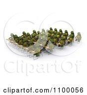 Clipart 3d Tortoises Writing At Their Desks In A Class Room Royalty Free CGI Illustration
