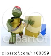 Clipart 3d Illegal Download Tortoise Pirate With A Folder Royalty Free CGI Illustration