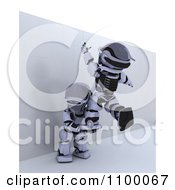 Clipart 3d Helping Another Over A Wall To Defeat An Obstacle Royalty Free CGI Illustration by KJ Pargeter